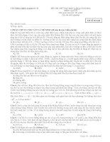 Đề thi thử lần 3 - 2014 - Môn Vật lý - Trường THPT Nam Sách - Hải Dương
