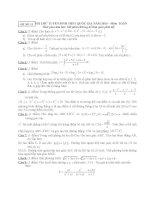 ĐỀ THI THỬ TUYỂN SINH THPT QUỐC GIA năm 2015 môn toán, đề số 11