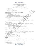 đề kiểm tra chất lượng học kì 1 môn toán lớp 12,đề tham khảo số 9