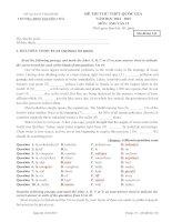 Đề và Đ.A thi Anh thử THPT QG và ĐH, CĐ (CKy II. 14-15) Tr Nguyễn Trãi