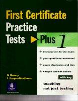 FCE Practice Tests Plus 1