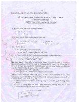 Đề thi HSG huyện Môn Toán lớp 9 Diễn Châu năm 2013-2014 vòng 2