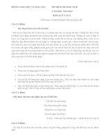 Đề thi học kì II môn ngữ văn 6  năm học 2014 - 2015(có đáp án)