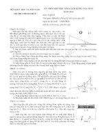 Đề Vật Lí HSG Quốc gia 2013 đầy đủ 3 ngày (bao gồm 2 ngày lý thuyết và 1 ngày thực hành)