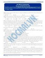Đề thi thử môn Sinh học thầy Nguyễn Quang Anh số 3