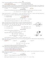 ĐỀ THI THỬ vật lý THPT QUỐC GIA SỐ 1 CÓ LỜI GIẢI CHI TIẾT- THẦY NGHĨA HÀ