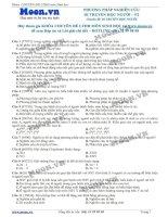 40 Câu hỏi trắc nghiệm Phương pháp nghiên cứu Di truyền học người P2