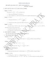đề kiểm tra chất lượng học kì 1 môn toán lớp 12,đề tham khảo số 4