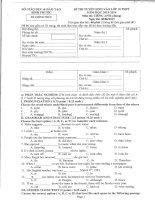 Đề thi vào lớp 10 môn tiếng Anh tỉnh Bình Phước năm 2013