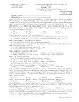 đề thi thử đh môn sinh năm 2015, số 12