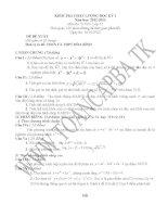 đề kiểm tra chất lượng học kì 1 môn toán lớp 12,đề tham khảo số 10