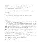 ĐỀ THI THỬ TUYỂN SINH THPT QUỐC GIA năm 2015 môn toán, đề số 7