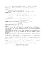 ĐỀ THI THỬ TUYỂN SINH THPT QUỐC GIA năm 2015 môn toán, đề số 5