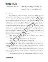 Đề thi thử vào lớp 10 môn Ngữ văn, PGD & ĐT Phúc Yên, Vĩnh Phúc năm 2015