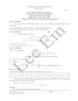Đề thi kết thúc học phần môn Xác suất thống kê 2013-2014 (HCMUP)