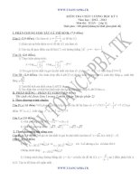 đề kiểm tra chất lượng học kì 1 môn toán lớp 12,đề tham khảo số 7