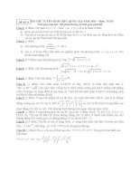 ĐỀ THI THỬ TUYỂN SINH THPT QUỐC GIA năm 2015 môn toán, đề số 4