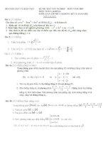 đề thi thử kì thi tốt nghiệp thpt môn toán, đề thi số 10