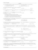 bộ đề ôn trắc nghiệm vật lý thi tốt nghiệp đề 5