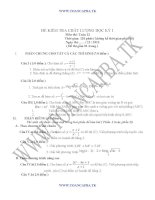 đề kiểm tra chất lượng học kì 1 môn toán lớp 12,đề tham khảo số 8