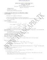 đề kiểm tra chất lượng học kì 1 môn toán lớp 12,đề tham khảo số 3