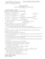 ĐỀ KIỂM TRA KHẢO sát học kì i môn văn 7,đề số  11
