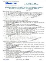 40 Câu hỏi trắc nghiệm Di truyền Y học