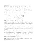 ĐỀ THI THỬ TUYỂN SINH THPT QUỐC GIA năm 2015 môn toán, đề số 14