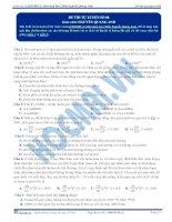 Đề thi thử môn Sinh học thầy Nguyễn Quang Anh số 8
