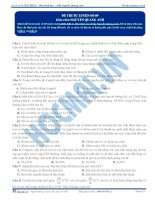 Đề thi thử môn Sinh học thầy Nguyễn Quang Anh số 9