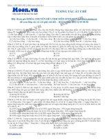 40 câu hỏi trắc nghiệm Tương tác át chế Sinh học 12