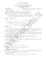 đề kiểm tra chất lượng học kì 1 môn toán lớp 12,đề tham khảo số 13