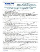 Đề 3 Quy luật di truyền (Mỗi gen trên 1 NST thường)