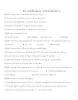 ĐỀ KIỂM TRA 1 TIẾT HÓA 12 CHƯƠNG CACBOHIDRAT CÓ ĐÁP ÁN
