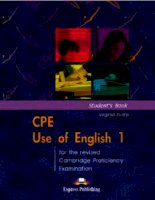 CPE Use of English 1