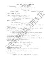 đề kiểm tra chất lượng học kì 1 môn toán lớp 12,đề tham khảo số 11