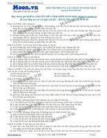 40 Câu hỏi trắc nghiệm  Môi trường và các nhân tố sinh thái