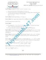 Đề thi thử THPT môn Toán 2015 số 48