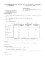 Đề thi học sinh giỏi lớp 12 THPT tỉnh Bình Phước năm 2013 - 2014 môn địa