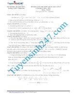 Đề thi thử THPT môn Toán 2015 số 34