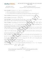 Đề THI THỬ THPT Quốc gia Tháng 01 - 2015 môn Toán (Đợt 3)