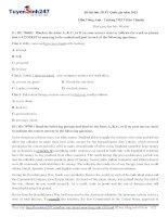 Đề thi thử THPT môn Tiếng Anh số 6