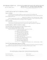 Đề thi tốt nghiệp THPT môn Ngữ văn hệ Phổ thông năm 2012