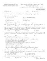đề thi thử môn hóa lần 1 TRƯỜNG PTDT NỘI TRÚ tuyên quang