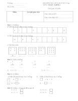 Đề Kiểm tra giữa kỳ I môn Toán lớp 1 số 12