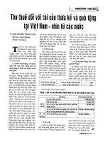 Thu thuế đối với tài sản thừa kế và quà tặng tại Việt Nam - nhìn từ các nước