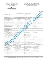 Đề thi thử THPT môn Tiếng Anh số 31