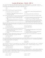 Đề thi thử THPT môn Vật lý số 11