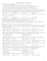 ĐỀ ÔN TẬP THI CHẤT LƯỢNG SỐ 2 MÔN VẬT LÝ 10