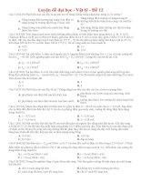 Đề thi thử THPT môn Vật lý số 12